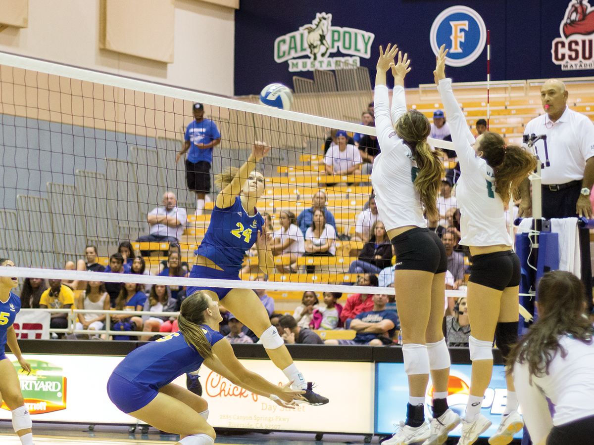 Despite strong first set, volleyball falls to UCSB ...