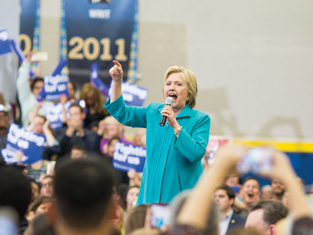 Hillary Clinton shares with the Riverside community how she wants to change America.