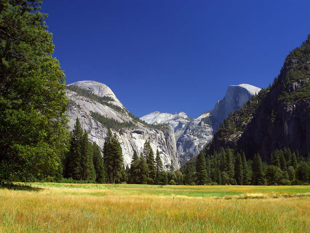 A view of Half Dome in Yosemite National Park Courtesy of Public Domain Images