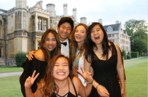 Chew and friends at a formal at University of Cambridge.