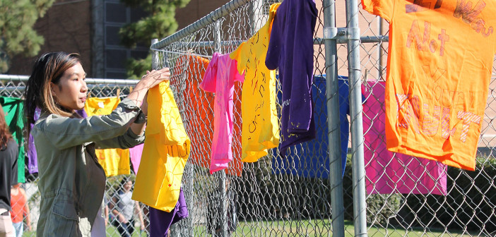 UCR Clothesline Project draws supporters from the sidelines