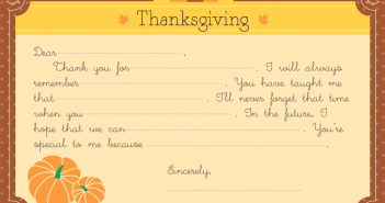 Make Your Own Thanksgiving Card
