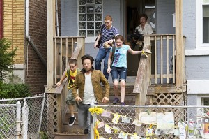 Justin Chatwin as Steve, Ethan Cutkosky as Carl Gallagher, Emma Kenney as Debbie Gallagher, Cameron Monaghan as Ian Gallagher and Jeremy Allen White as Lip Gallagher in Shameless