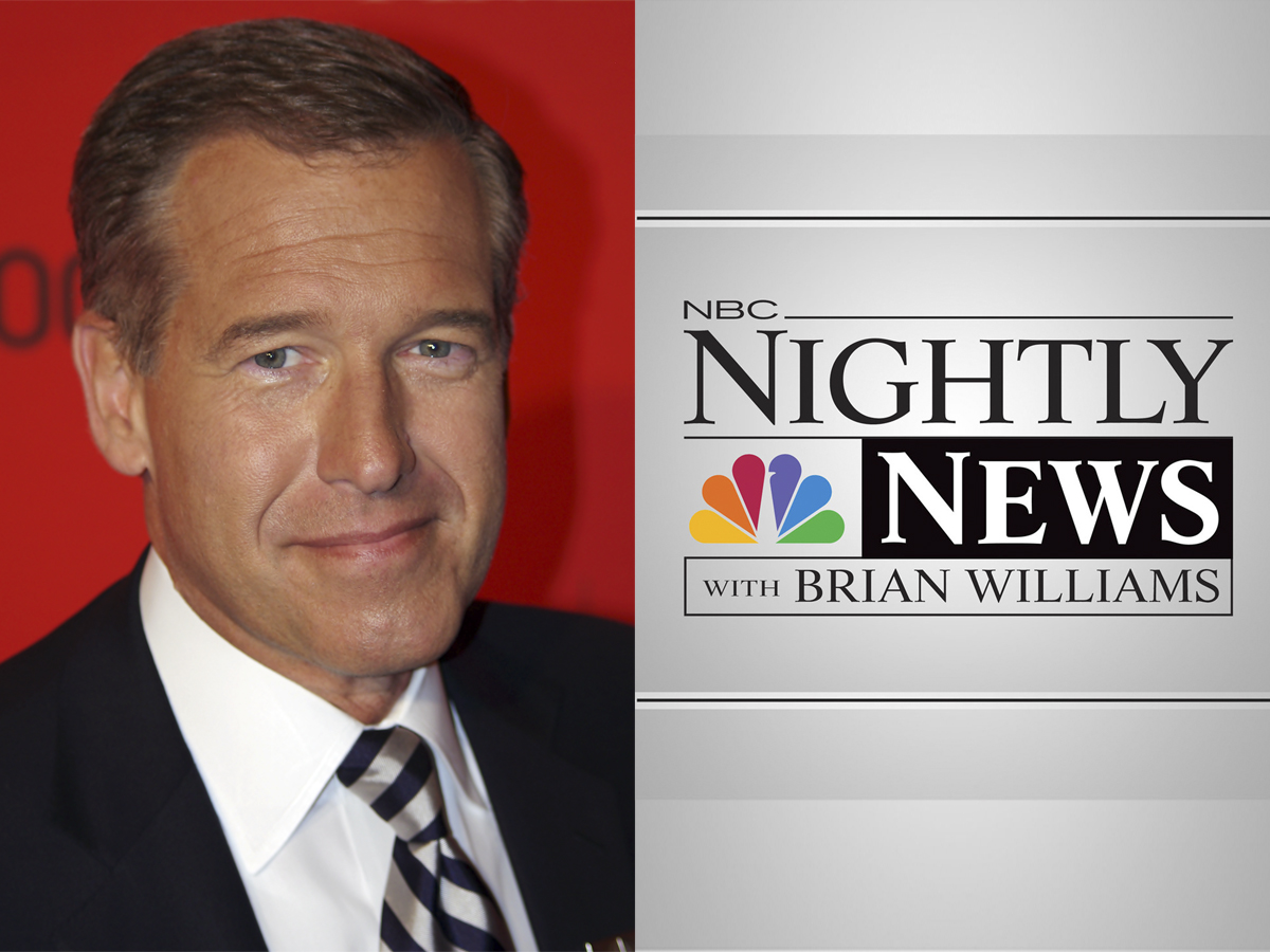 "Brian Williams was recently the newscaster for ""NBC Nightly News"""