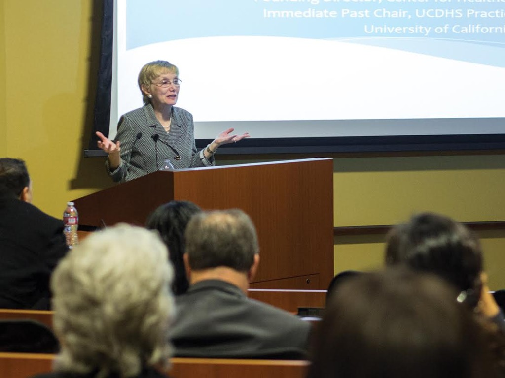 Dr. Bertakis answers questions on her ideas about global health, the current level of organization at UCR SOM, and what she plans to accomplish.