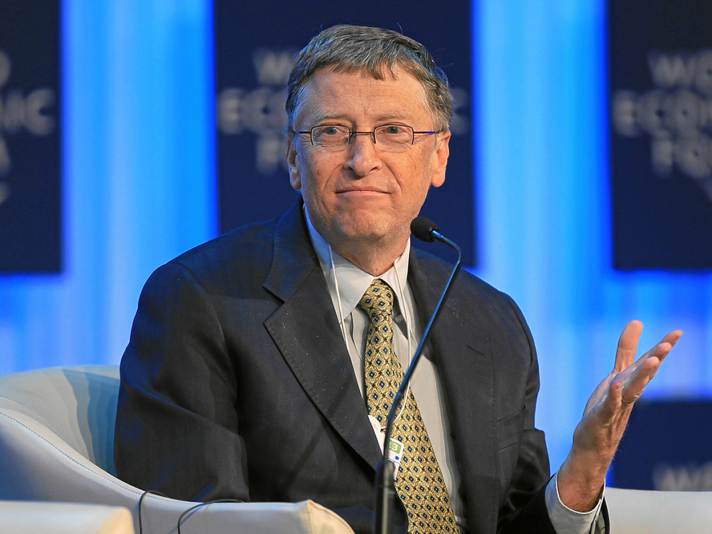DAVOS/SWITZERLAND, 24JAN13 - William H. Gates III, Co-Chair, Bill & Melinda Gates Foundation, USA talks during the session 'The Global Development Outlook' at the Annual Meeting 2013 of the World Economic Forum in Davos, Switzerland, January 24, 2013.  Copyright by World Economic Forum swiss-image.ch/Photo Sebastian Derungs