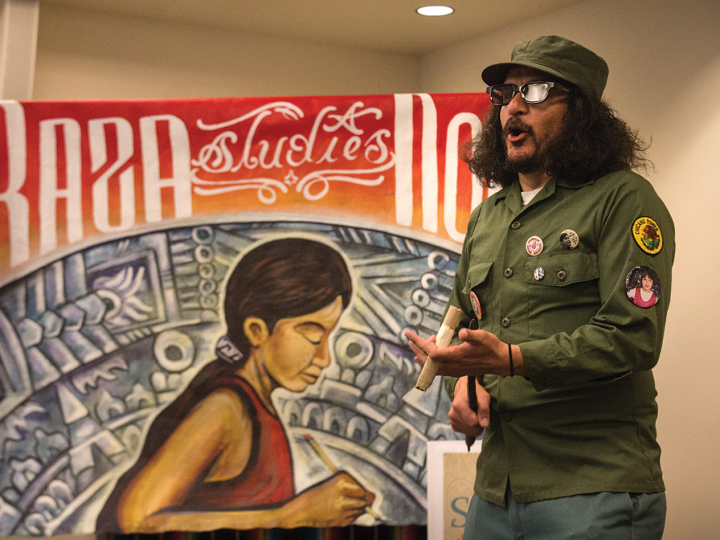 Fake Fidel Castro entertaining the audience at last week's Semana de la Raza comedy show Jeffrey Chang/HIGHLANDER