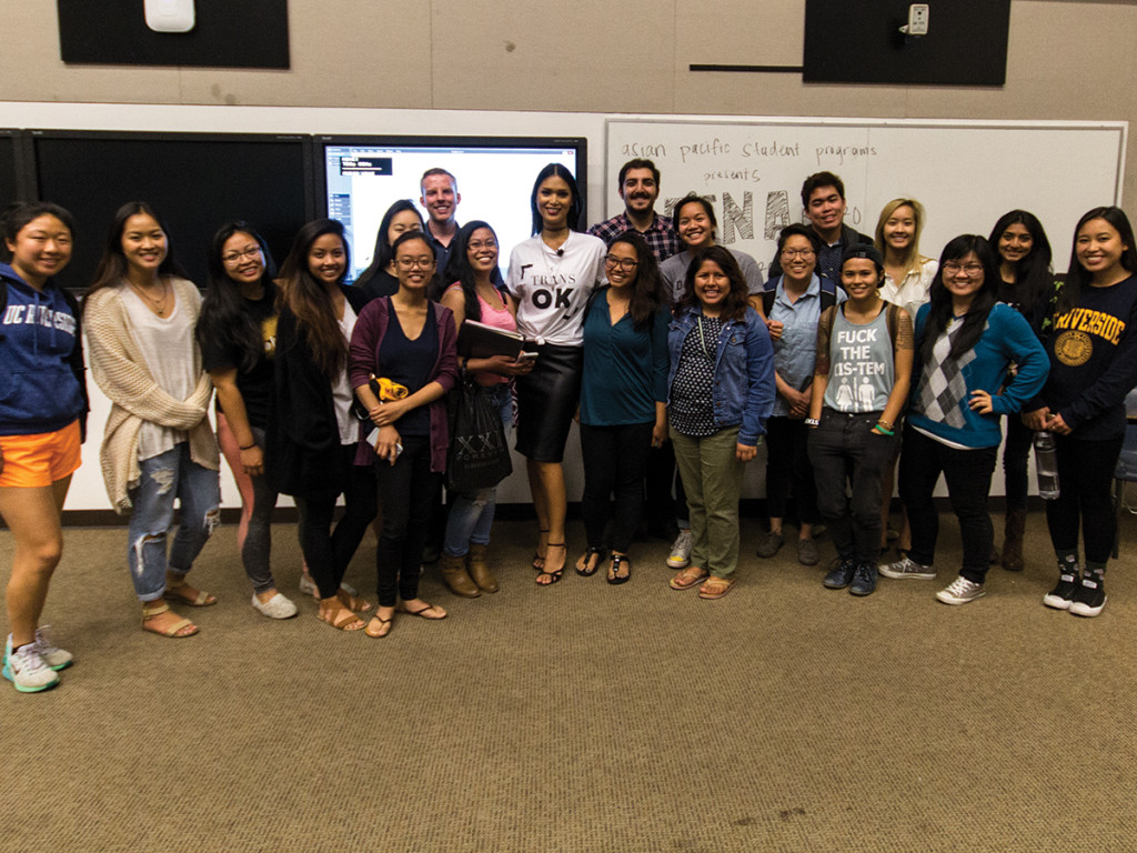 Aaron Lai/HIGHLANDER Highlanders came out to Geena Rocero's talk this past Tuesday to hear her story and how she made her way despite the extreme social and economic obstacles pitted against her.
