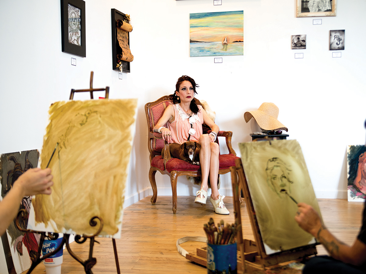 A model sketching class at the Gallery of Progressive Arts, as part of the Saturation fest. Vincent Ta/HIGHLANDER