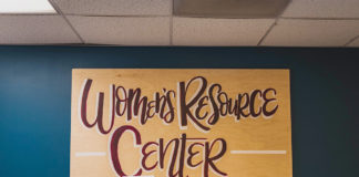 women's resource center sign printer