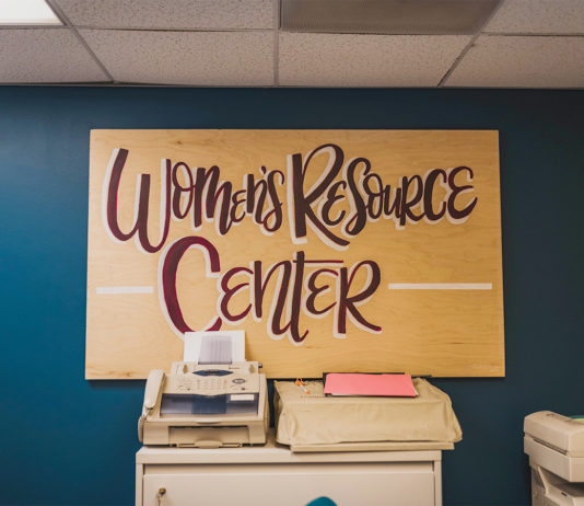 women's resource center sign printer