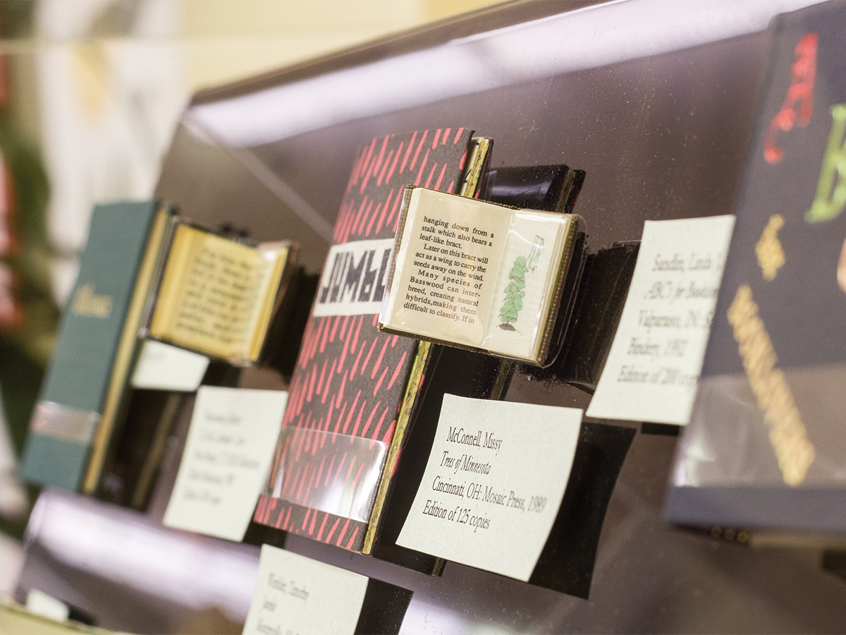 This particular collection of Miniature Books can be found at Riviera Library, first floor.